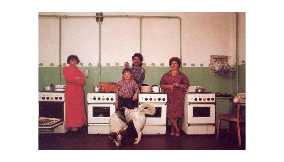 Cocina colectiva en una Kommunalki Rusia